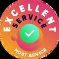 """Αφιερώσαμε χρόνο για να ελέγξουμε προσωπικά και ανώνυμα την εξυπηρέτηση πελατών από κάθε μια εταιρία. Το """"Σήμα Αριστείας"""" απονεμήθηκε σε εταιρίες φιλοξενίας οι οποίες τηρούν τα υψηλά στάνταρ που έχει θέσει η HostAdvice σχετικά με την εξυπηρέτηση των πελατών, γεγονός που υποδηλώνει ότι η υπηρεσία αποδείχθηκε ότι είναι άμεση, αποτελεσματική, και πάνω απ' όλα, εξυπηρετική."""